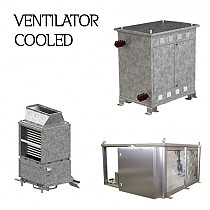 Ventilator cooled