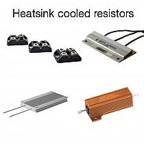 Heatsink cooled resistors
